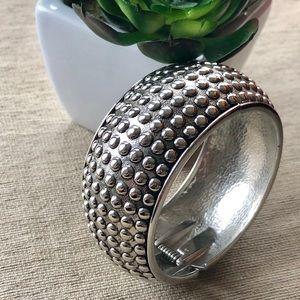 Jewelry - Silver Nubbed Bangle Bracelet